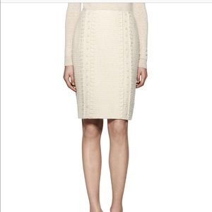 Tory Burch Boucle Sparkle Tweed Skirt